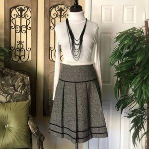 Tweed style plaid skirt